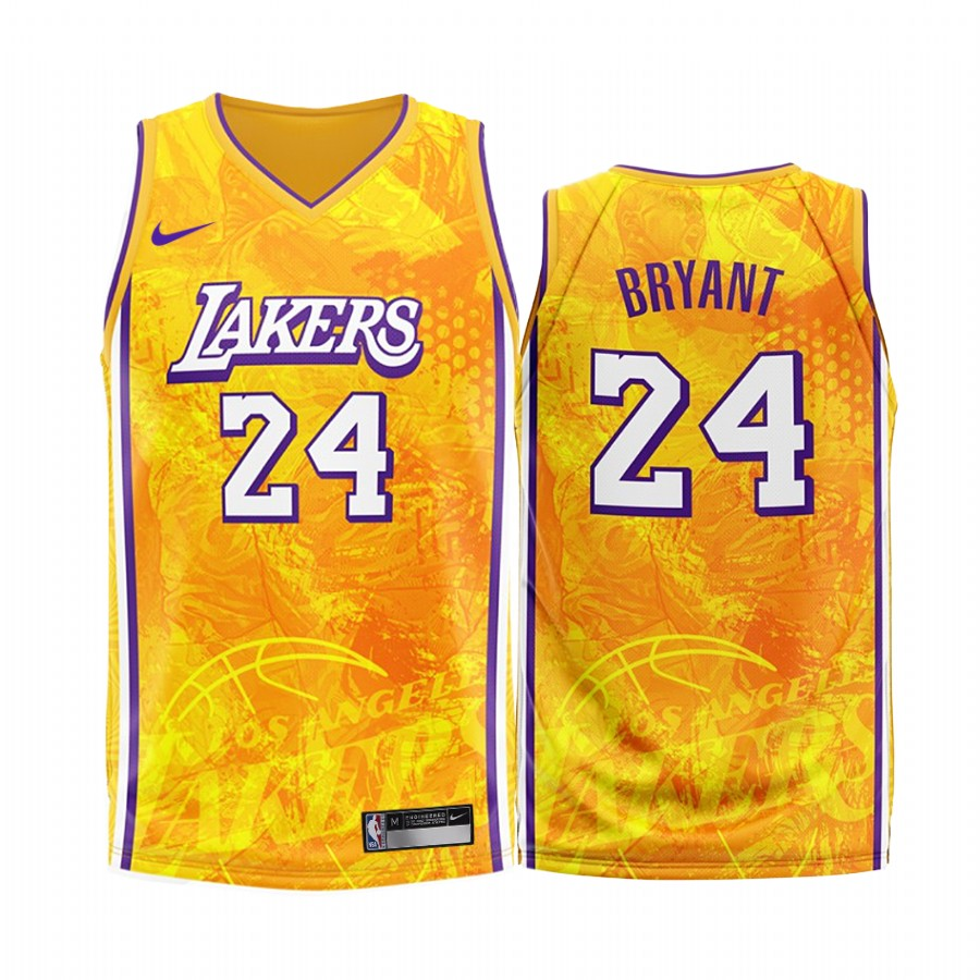 Kobe Bryant #24 Los Angeles Lakers Gold 2020 Fashion Edition Jersey