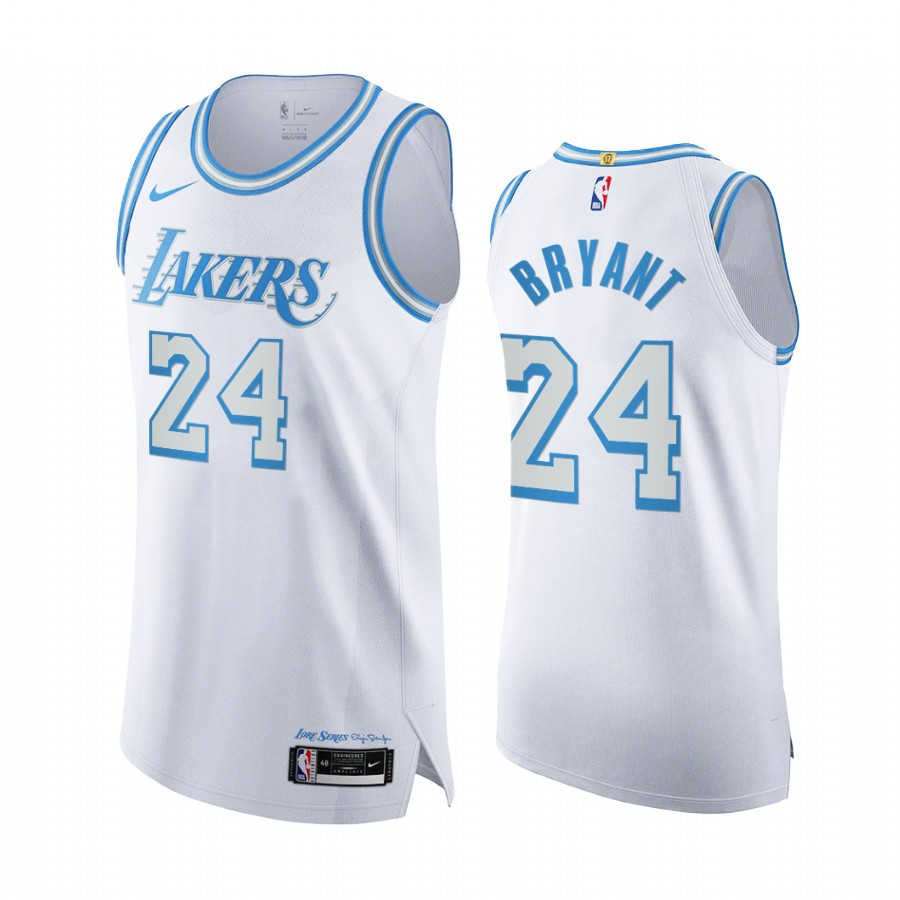 Kobe Bryant #24 Los Angeles Lakers White City 2020-21 Jersey Legacy of Lore