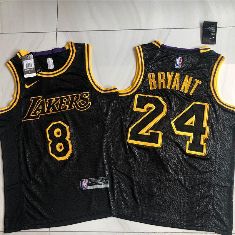 Kobe Bryant #8 #24 Los Angeles Lakers Black Mamba Day Special Edition Jersey