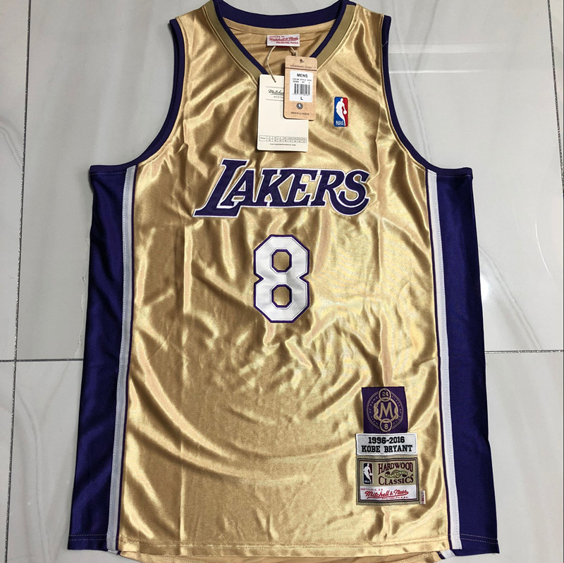 Kobe Bryant #8 Lakers Gold Hall of Fame Classic of 2020 Jersey